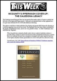 Haldimand Regional News series: McGuinty's Ipperwash Cover-Up: the Caledonia Legacy